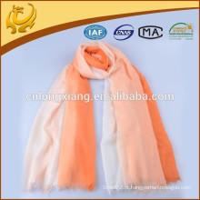 Latest Fashion Custom Costas Cashmere Scarves, cor lisa lenço xale para mulheres