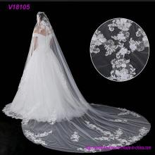 Beaded Soft Trim Brautschleier French Lace Applique Perlen Soft Trim Brautschleier Hochzeit Zubehör Französisch Spitze