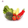 Fruit Basket Stand Round Fruit Bowl Vegetables Storage Basket Holder Countertop Vegetables Home Decorative