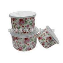 3шт эмаль цветок наклейка для хранения чаша углеродистая сталь чаша