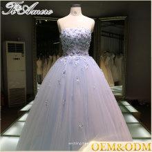 Vestido de boda 2016 vestido de bola de la noche de la fiesta de noche de la alta calidad de la fábrica