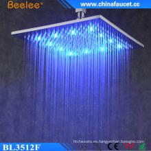 Cuarto de baño 12 '' Cabeza de ducha de alta presión impermeable LED de lujo