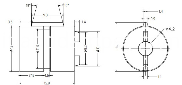 Barrel Damper Drawing For Gift Box