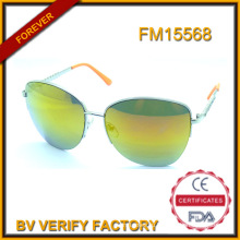 Пользовательские металлические солнцезащитные очки зеленый объектив оптом в Китае