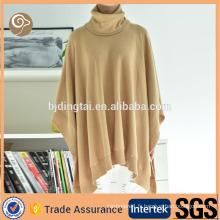 Poncho en laine tricoté à la mode Chine haute col