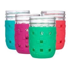 Protective Flexible Silicone Mason Jar Sleeve
