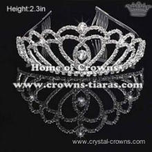 Small Crystal Rhinestone Party Crowns
