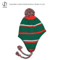 Acrylic Knitted Hat Warm Knitted Toque Earflap Knitted Hat Bobble Ear Flap Beanie Hat