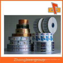 Custom auto-adesivo roll impressão de etiquetas, rolo de etiqueta, etiqueta de impressão de etiquetas