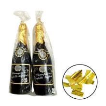 Bachelorette Party Supplies Champagner Flasche Popper mit Goldfolie Mylar Konfetti