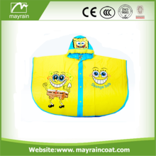 Cartoon Kids Rain Coat Poncho de plástico PVC