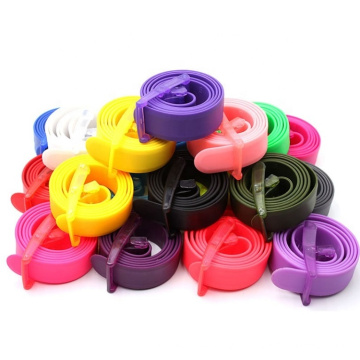 Eco Friendly Plastic Buckle Silicone Belt For Men