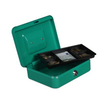 Factory high quality steel money storage box cash drawer 8 inch cash box with 5 compartments cash tray