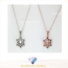 2016 Modische 925 Halskette für Frauen weiße CZ Halskette N6780