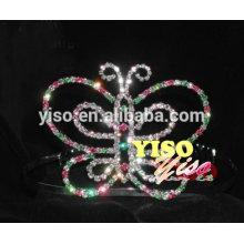 Großhandel Festzug Schmetterling Rhinestone Tiara