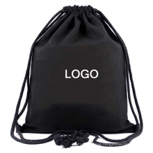 Small Canvas Dust gift bag cloth bag draw string back sack fabric black cotton gym drawstring bag