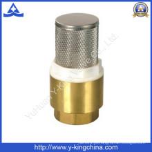 Válvula de retención de muelle de latón con filtro de acero Stainess (YD-3003)