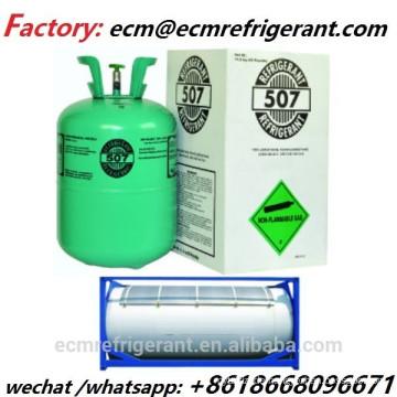 99,9% Reinheit Kältemittel R507 mit Einweg-Flaschen für den Verkauf