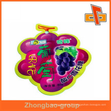 Safe and food grade custom aluminium foil fruit shaped bags with printing