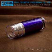YB-WA40 40ml (20 ml x 2) parede acrílico grosso azul escuro boa qualidade luxo acrílico dupla bomba garrafa