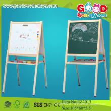 Melhor preço Cavalete magnético branco e preto de alta qualidade, pintura de madeira para crianças