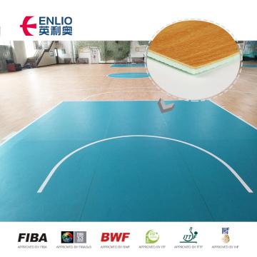Противоскользящий ПВХ крытый спортивный пол, баскетбольная площадка, деревянный пол