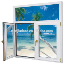 fenêtre à battants en vinyle de couleur blanche avec verre de teinte
