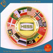 Benutzerdefinierte Full Color Flag Soft Emaille Chanllenge Münze für Souvenir