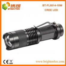 Fabrik Versorgung CE Rohs 18650 batteriebetriebene meiste leistungsstarke Zoom Dimmen Aluminium 800lumen Cree xml führte wiederaufladbare Taschenlampen
