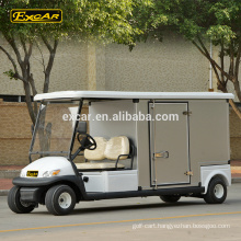 2 seater electric golf cart with cargo box electric housekeeping car hotel buggy car