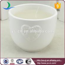 Venta al por mayor Candelero decorativo de cerámica blanca