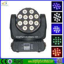 Super heller 12 x 10W RGBW LED beweglicher Hauptstrahl, 6pcs / flight Fall