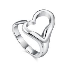 Heart Shape Women Rings Simple Design Heart Silver Ring Jewelry
