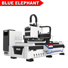 Jinan Blue Elephant 1325 Linear Automatic Tool Changer CNC Router for Wood Furniture Industry
