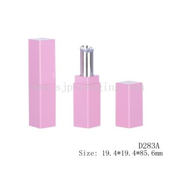 Empty Square Pink lipstick Tube