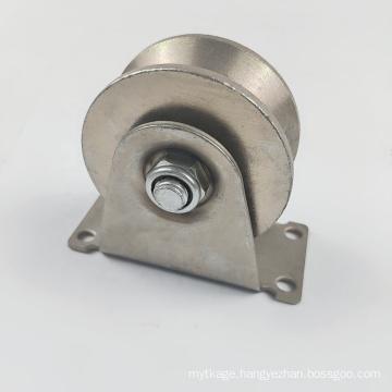 Galvanized steel sliding gate roller wheel V groove track wheels