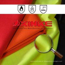 tecido repelente de fogo inerente funcional de algodão / poliéster