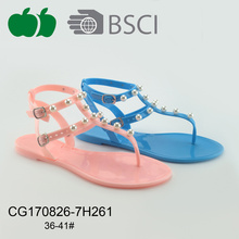 Ladies Fashion en plastique Pvc Jelly Sandals