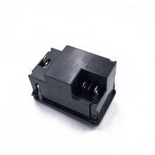 Manufacture provide JEC black switch 3Pin on off male ac appliance socket with fuse