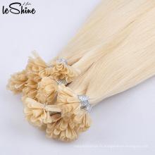 Extensions de cheveux de pointe de qualité supérieure pré-collées à double humain