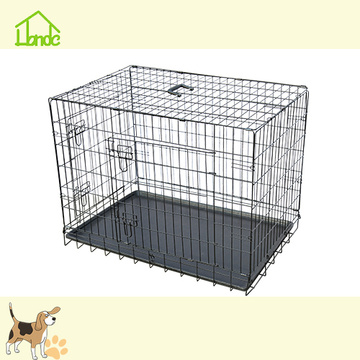 Folding Metal Dog Cages Kasser Med Bästa Pris