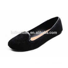 Top moda de alta qualidade mocassins confortável de crina plana sapatos mulheres pretas sapatos de passeio 2015