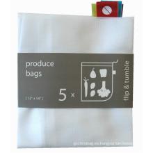 bolso de compras con cordón de malla de poliéster personalizado y barato