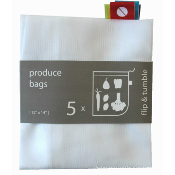 custom and cheap polyester mesh drawstring shopping bag