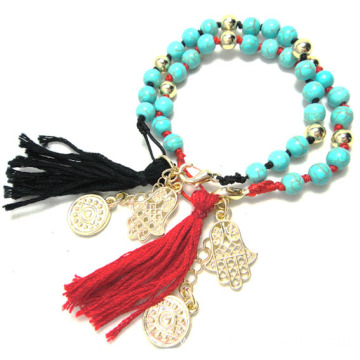 Turkey Lucky Eye Tassel Bracelet Turquoise Beads Bracelet