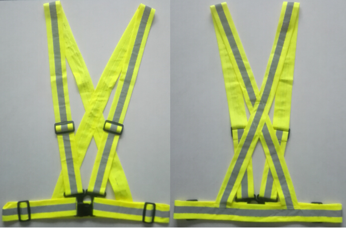 EN13356 Yellow Reflecting Safety Belt