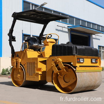 Low price 3000kg road roller double drum mechanical drive vibratory road compactor FYL-203S