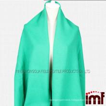 100% wool ladies thick winter shawl green long shawl