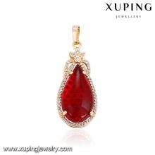 32864 Wholesale elegant women jewelry water drop shaped imitation gemstone pendant