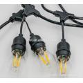 SLT-143 SLT-140 cordon noir 5mm conduit des cordes de lumière décoratives de Noël blanc chaud